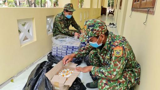 Bộ đội Biên phòng tỉnh An Giang thu giữ lô hàng nhập lậu trị giá khoảng 100 triệu đồng