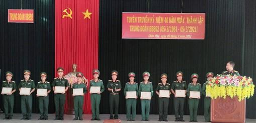 Tuyên truyền kỷ niệm 40 năm ngày Thành lập Trung đoàn Bộ binh 892