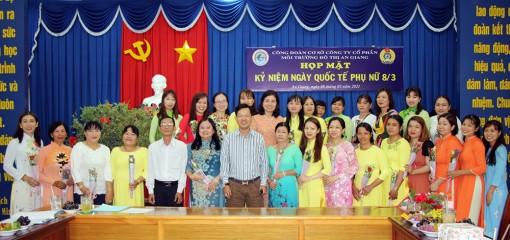 Công đoàn Công ty Cổ phần Môi trường đô thị An Giang họp mặt kỷ niệm ngày Quốc tế phụ nữ 8-3