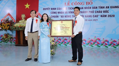 Xã Vĩnh Tế đạt chuẩn xã nông thôn mới nâng cao năm 2020