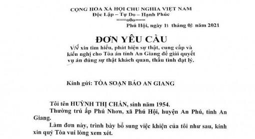Trả lời phản ánh của bà Huỳnh Thị Chẩn