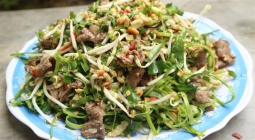 Món ngon mỗi ngày: Nộm rau muống thịt bò