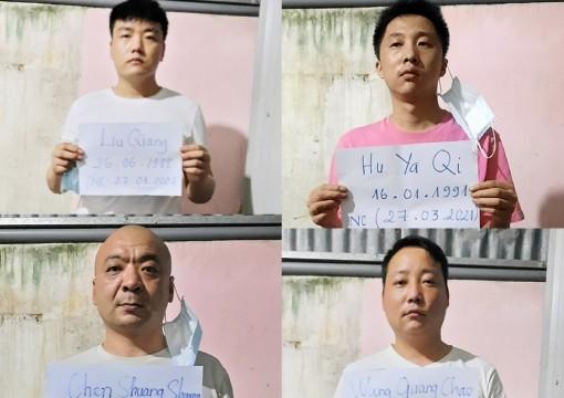 An Giang: Phát hiện, bắt giữ 4 người Trung Quốc nghi vấn xuất nhập cảnh trái phép