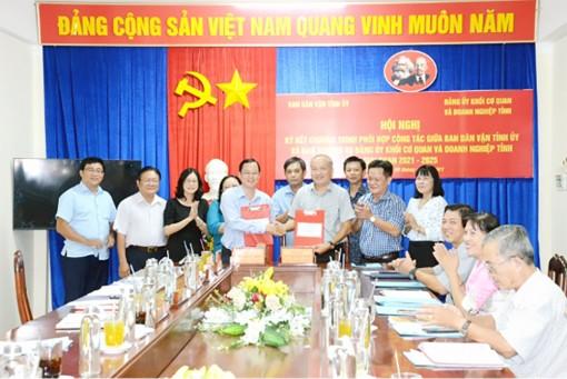 Ban Dân vận Tỉnh ủy An Giang ký kết chương trình phối hợp công tác với Ban Thường vụ Đảng ủy Khối Cơ quan và Doanh nghiệp tỉnh