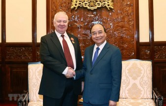 Chủ tịch nước Nguyễn Xuân Phúc tiếp Đại sứ LB Nga đến chào từ biệt