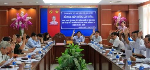 59 người được giới thiệu ứng cử HĐND TP. Long Xuyên (nhiệm kỳ 2021-2026)