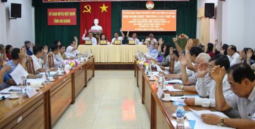 Hội nghị hiệp thương lần thứ 3 lựa chọn, lập danh sách những người đủ tiêu chuẩn ứng đại biểu Quốc hội khóa XV và đại biểu HĐND tỉnh An Giang (nhiệm kỳ 2021-2026)