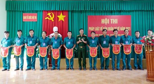Châu Thành: Khai mạc Hội thi pháp luật về Dân quân tự vệ năm 2021