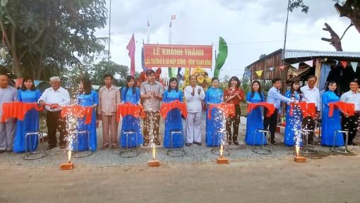 Khánh thành cầu Trường B nối liền xã Hiệp Xương và xã Bình Thạnh Đông
