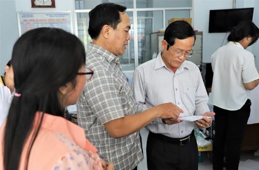 Đoàn khảo sát tỉnh An Giang khảo sát việc tổ chức thực hiện công tác bầu cử của TP. Châu Đốc