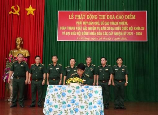 Bộ đội Biên phòng An Giang: Phát động đợt thi đua cao điểm chào mừng bầu cử đại biểu Quốc hội khóa XV và đại biểu HDND các cấp nhiệm kỳ 2021 – 2026