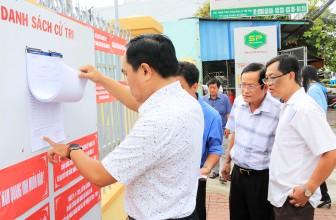 Thường trực HĐND tỉnh An Giang khảo sát công tác bầu cử tại TP. Long Xuyên