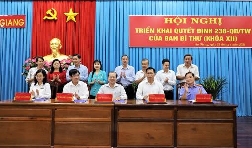 Ban Tuyên giáo Tỉnh ủy An Giang ký kết chương trình phối hợp với các cơ quan nhà nước