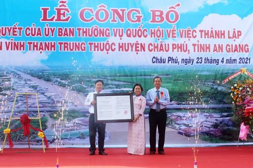 Công bố thành lập thị trấn Vĩnh Thạnh Trung