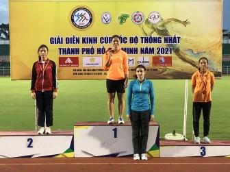 An Giang đoạt hạng ba toàn đoàn Giải điền kinh cúp Tốc độ Thống Nhất 2021