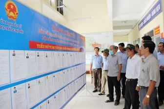 Thường trực HĐND tỉnh An Giang khảo sát công tác bầu cử tại huyện Chợ Mới