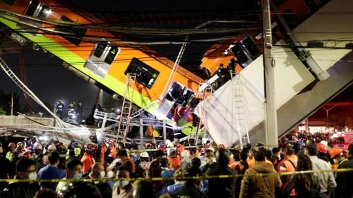 15 người thiệt mạng trong vụ sập đường sắt trên cao tại Mexico