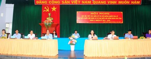 Gặp gỡ, tiếp xúc giữa cử tri với những người ứng cử đại biểu Quốc hội và đại biểu HĐND