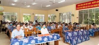 Ứng cử viên đại biểu HĐND tỉnh An Giang gặp gỡ, tiếp xúc giữa cử tri huyện Thoại Sơn