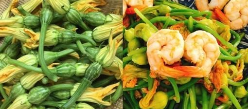 Món ngon mỗi ngày: Hoa bí xào tôm