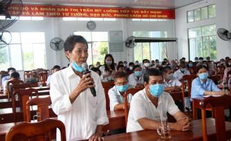 Gặp gỡ, tiếp xúc giữa cử tri với những người ứng cử đại biểu Quốc hội và HĐND tại thị trấn Mỹ Luông, xã Tấn Mỹ