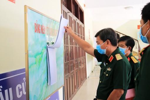 Quân khu 9 kiểm tra công tác chuẩn bị bầu cử tại Bộ Chỉ huy Quân sự tỉnh An Giang