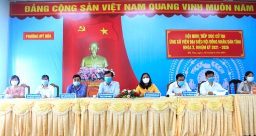 Gặp gỡ, tiếp xúc giữa cử tri với những người ứng cử đại biểu HĐND tỉnh