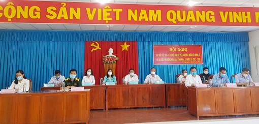 Ứng cử viên đại biểu Quốc hội và HĐND tỉnh tiếp xúc cử tri tại Tri Tôn