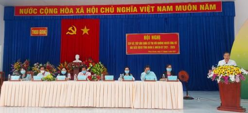 Ứng cử viên HĐND tỉnh tiếp xúc cử tri tại Thoại Sơn