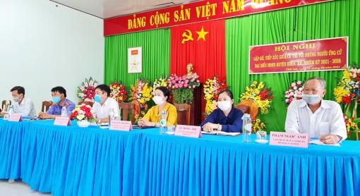 Ứng cử viên đại biểu HĐND huyện Tịnh Biên gặp gỡ cử tri