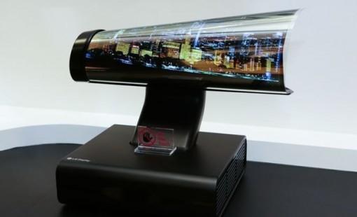 """Màn hình OLED có thể cuộn của LG đoạt giải """"Màn hình của năm"""""""