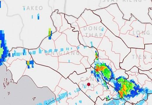 An Giang đề phòng mưa giông chiều tối 13-5-2021