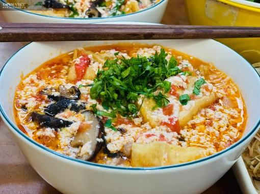 Bật mí cách nấu món bún riêu chay bằng nước đậu nành