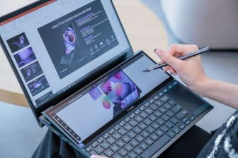 Laptop 2 màn hình Asus ZenBook Duo 14 lên kệ
