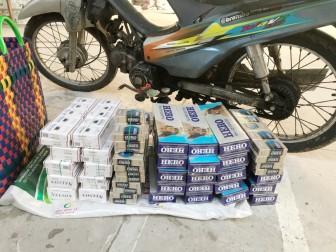 Công an xã An Hòa thu giữ 350 gói thuốc lá ngoại nhập lậu