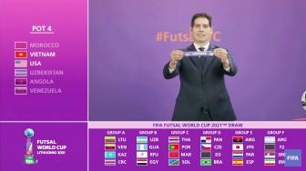 ĐT Futsal Việt Nam cùng bảng Brazil, Cộng hòa Séc và Panama tại VCK World Cup 2021