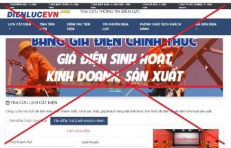 Cảnh báo trang web giả mạo thương hiệu Tập đoàn Điện lực Việt Nam