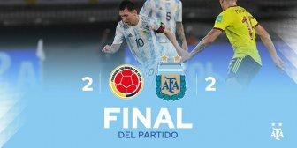 Messi bị khóa chặt, Argentina đánh rơi chiến thắng ở phút 94