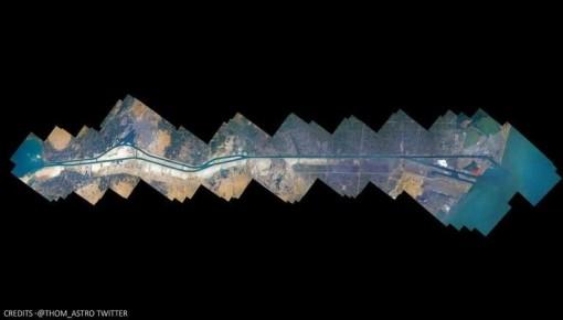 Kênh đào Suez được ghép từ 100 bức ảnh chụp từ vũ trụ