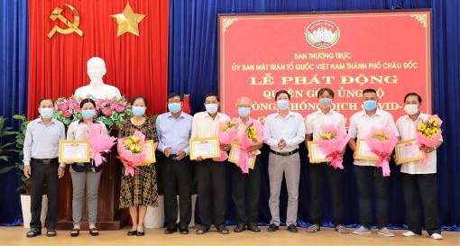 Ban Thường trực UBMTTQVN TP. Châu Đốc phát động quyên góp, ủng hộ phòng, chống dịch bệnh COVID-19