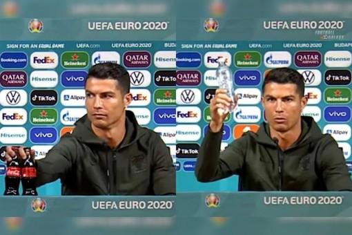 UEFA dọa phạt các đội nếu bắt chước Ronaldo gạt Coca-Cola