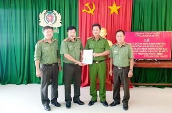Công an huyện An Phú được Bộ Công an khen thưởng về thành tích xuất sắc trong đấu tranh ngăn chặn xuất nhập cảnh trái phép