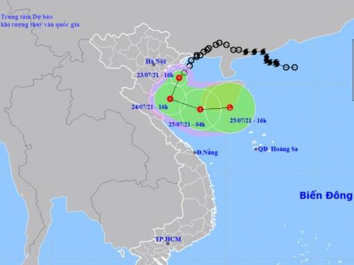 Áp thấp nhiệt đới vào vùng biển Hải Phòng đến Nam Định