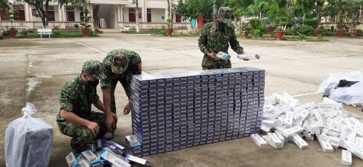 Bộ đội Biên phòng An Giang bắt 2 vụ buôn lậu, thu giữ 6.000 gói thuốc lá các loại