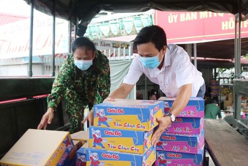 """Nhiều hỗ trợ cho """"Gian hàng 0 đồng"""" của lực lượng vũ trang tỉnh An Giang"""