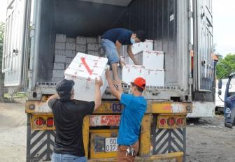 Tịnh Biên tổ chức xét nghiệm SARS-CoV 2 cho tất cả tài xế vận chuyển hàng hóa trên địa bàn huyện