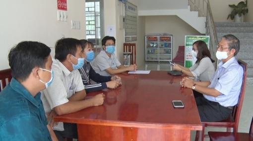 Lãnh đạo huyện Tri Tôn động viên lực lượng chống dịch