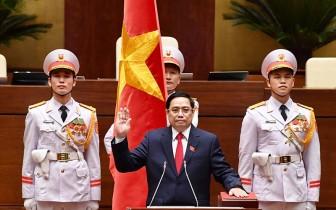 Đồng chí Phạm Minh Chính tuyên thệ nhậm chức Thủ tướng Chính phủ