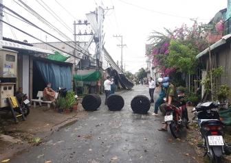 An Giang mưa dông lốc, sạt lở gây thiệt hại 20 căn nhà dân