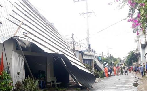 An Giang khẩn trương tái lập điện sau mưa, giông xảy ra